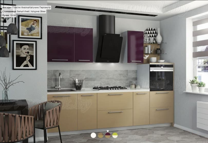 """Кухни """"Оптима"""" с фасадами из пластика"""
