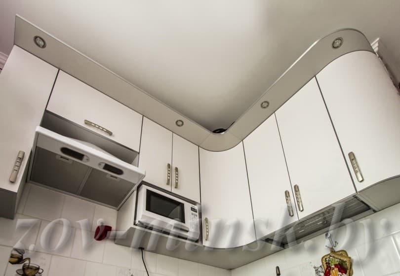 Кухня из пластика Белый-Фиалка