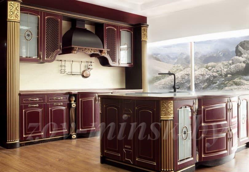 Цветовые решения кухонь из массива