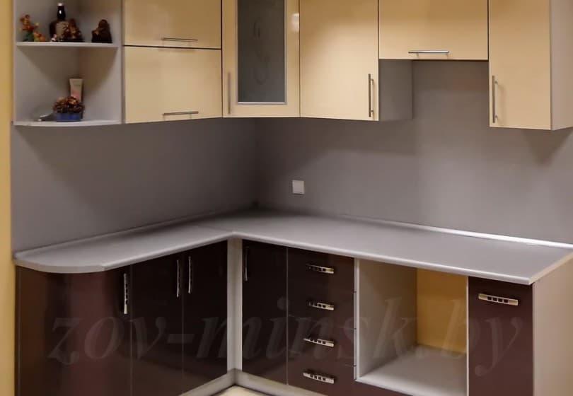 Кухня из пластика Бежевый/Антрацит
