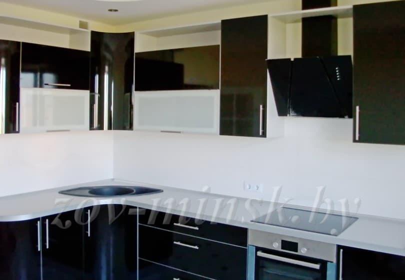 Кухня из пластика Черный
