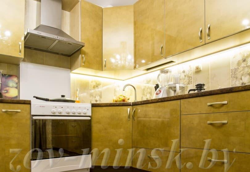 Кухня из пластика Золото
