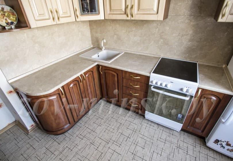 Кухня из МДФ-пвх с патиной Ретро-5 / Ретро-2