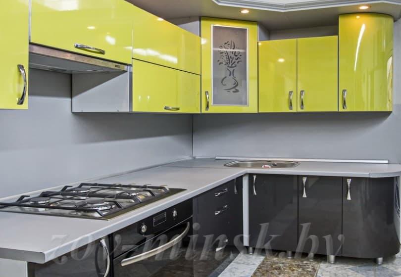 Кухня из пластика Цитрус/Антрацит