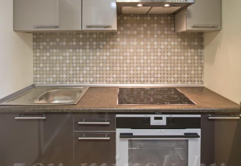 Кухня из пластика Платина/Антрацит