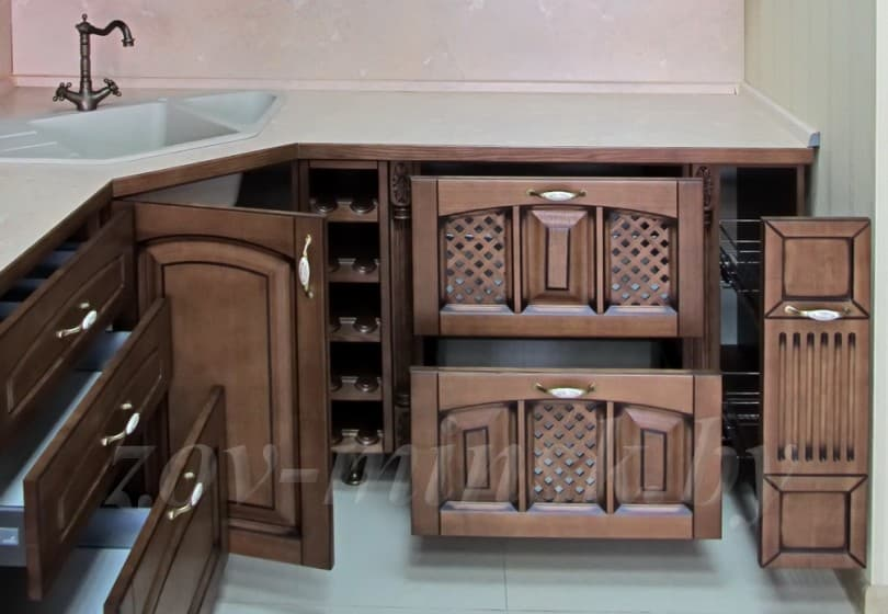 Кухня из массива ясеня Т512/102