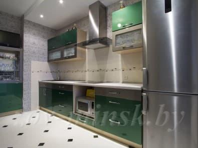 Кухня из мдф крашеного RAL6036 зеленая