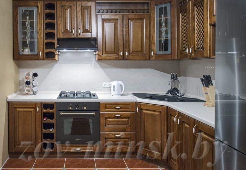 Кухня из массива ясеня Т506/106