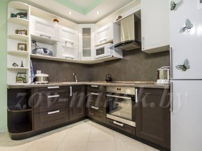 "Кухня из рамочного мдф ""Марсель-3"" Мрамор/Винтаж"