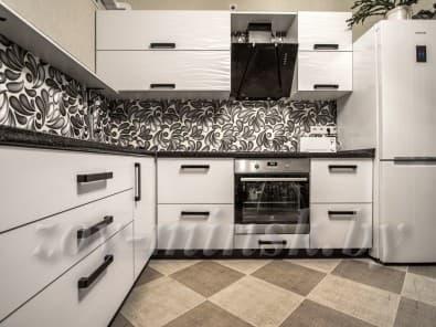 Кухня из пластика 3D Белый